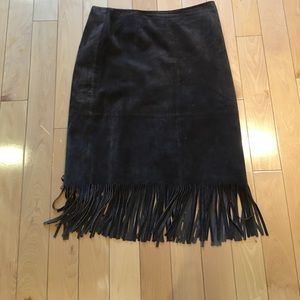 Beautiful Suede skirt with fringes